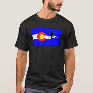 Camiseta T-shirt da bicicleta da bandeira do Colorado dos