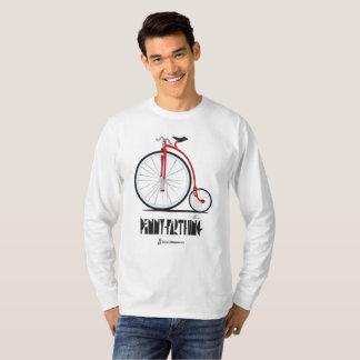 Camiseta T-shirt da bicicleta do Farthing da moeda de um