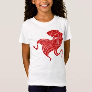 Camiseta t-shirt da boneca das meninas do Tesoura-cut