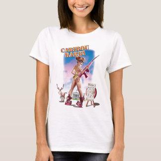 Camiseta T-shirt da boneca de Barbi do caribu