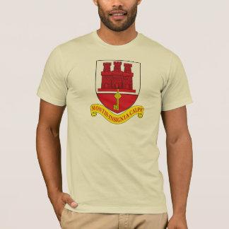 Camiseta T-shirt da brasão de Gibraltar