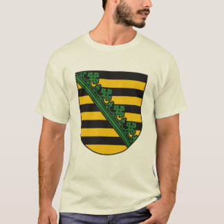 Camiseta T-shirt da brasão de Saxony (Sachsen)