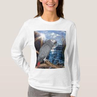 Camiseta T-shirt da cachoeira do cinza africano