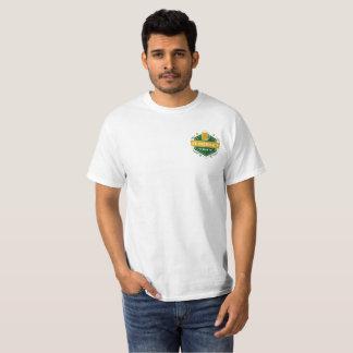 Camiseta T-shirt da caixa da parte dianteira do emblema da