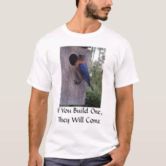 Camiseta T-shirt da caixa-ninha do Bluebird