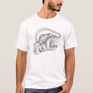 Camiseta T-shirt da câmera do vintage