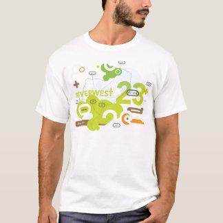 Camiseta T-shirt da caminhada da arte de Riverwest