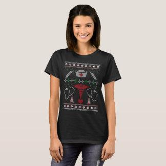 Camiseta T-shirt da camisola da enfermeira do Natal