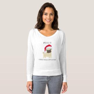 Camiseta T-shirt da camisola do Natal de Pugly