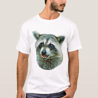 Camiseta T-shirt da campainha da imagem do guaxinim