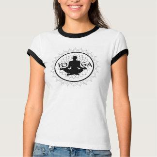 Camiseta T-shirt da campainha da mandala da pose de Lotus