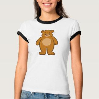 Camiseta T-shirt da campainha das mulheres felizes do urso