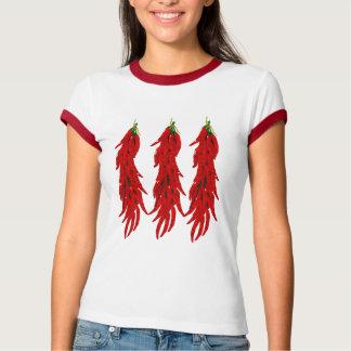 Camiseta T-shirt da campainha das senhoras das pimentas de