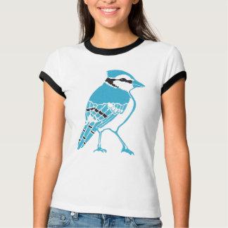 Camiseta T-shirt da campainha das senhoras de Jay azul