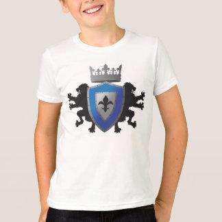 Camiseta T-shirt da campainha do menino medieval azul da