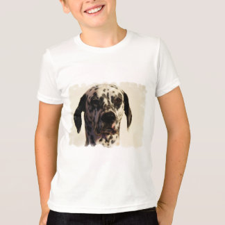 Camiseta T-shirt da campainha do miúdo do cão de Dalmation