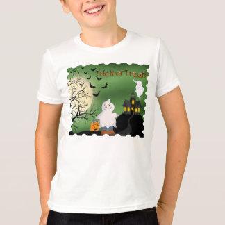 Camiseta T-shirt da campainha do miúdo do fantasma do