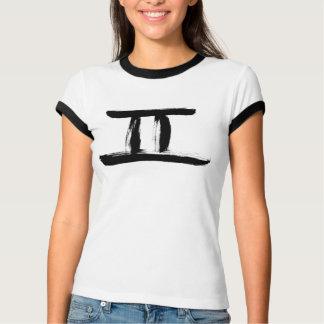 Camiseta T-SHIRT da CAMPAINHA do ZODÍACO dos GÊMEOS de
