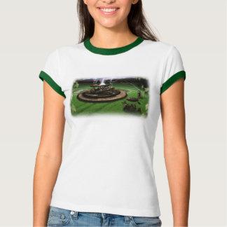 Camiseta T-shirt da campainha dos círculos da máquina do
