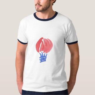 Camiseta T-shirt da campainha dos homens do balão de ar