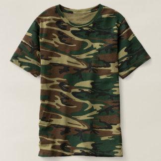 Camiseta T-shirt da camuflagem dos homens