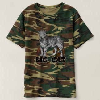 Camiseta T-shirt da camuflagem dos homens do leopardo do