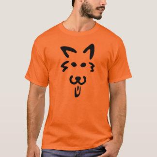 Camiseta T-shirt da cara da abóbora da Cão-O-Lanterna