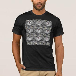 Camiseta T-shirt da cara do gato de gato malhado