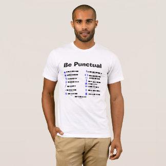 Camiseta T-shirt da carta da pontuação do código Morse