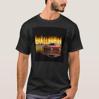 Camiseta T-shirt da chama do desafiador de Dodge