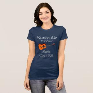 Camiseta T-shirt da cidade da música de Nashville Tennessee