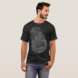 Camiseta T-shirt da ciência forense da impressão digital