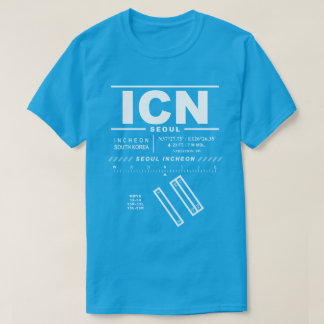 Camiseta T-shirt da CIN do aeroporto internacional de Seoul