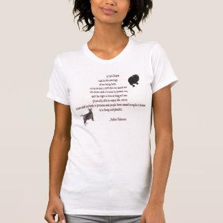 Camiseta T-shirt da colher das senhoras da oração de um