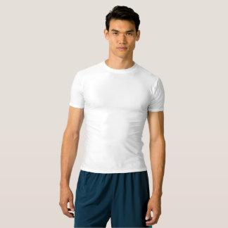 Camiseta T-shirt da compressão do desempenho dos homens