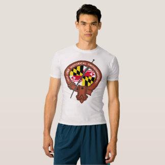 Camiseta T-shirt da compressão do desempenho dos homens de