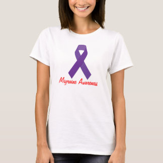 Camiseta T-shirt da consciência da enxaqueca das mulheres