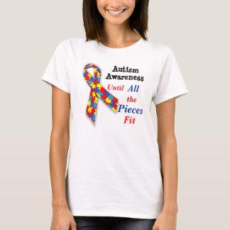 Camiseta T-shirt da consciência do autismo até todas as