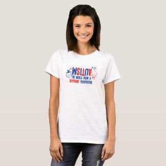 Camiseta T-shirt da consciência do autismo das mulheres