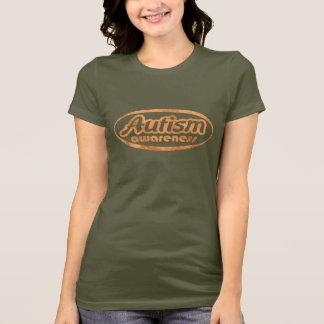 Camiseta T-shirt da consciência do autismo (Oval-FAÇA)