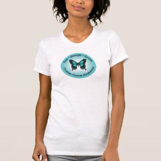 Camiseta T-shirt da consciência do câncer de ovário