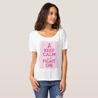 Camiseta T-shirt da consciência do cancro da mama -