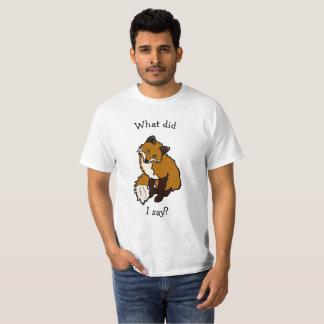 Camiseta T-shirt da conversa do Fox