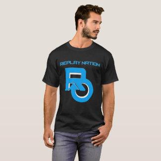 Camiseta T-shirt da cor escura da nação da repetição