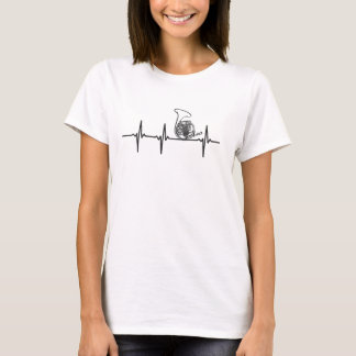 Camiseta T-shirt da corda de salvamento da trompa francesa