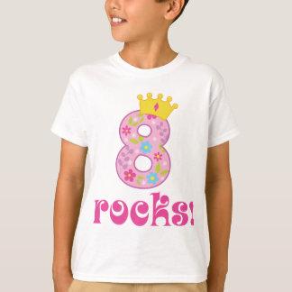 Camiseta T-shirt da coroa do aniversário das meninas 8o