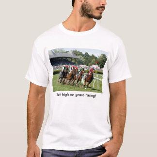 Camiseta T-shirt da corrida de cavalos com imagem de