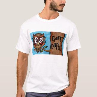 Camiseta T-shirt da coruja do cuco
