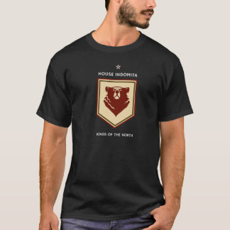 Camiseta T-shirt da crista de Indomita da casa (preto)