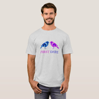 Camiseta t-shirt da data dos yuyass primeiro